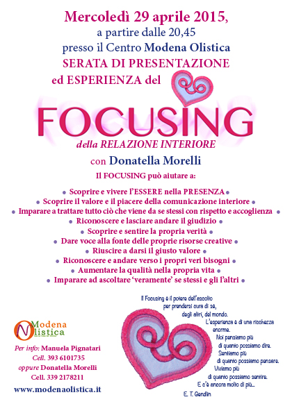Focusing • Modena Olistica
